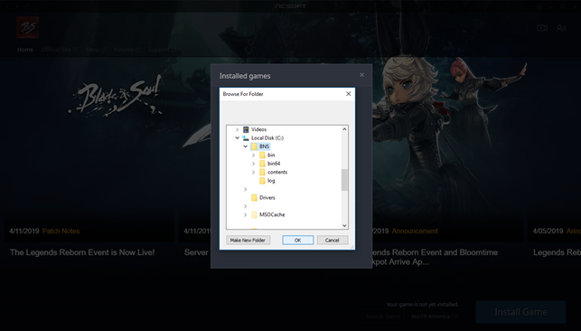 Copying files from another directory – Blade & Soul Support